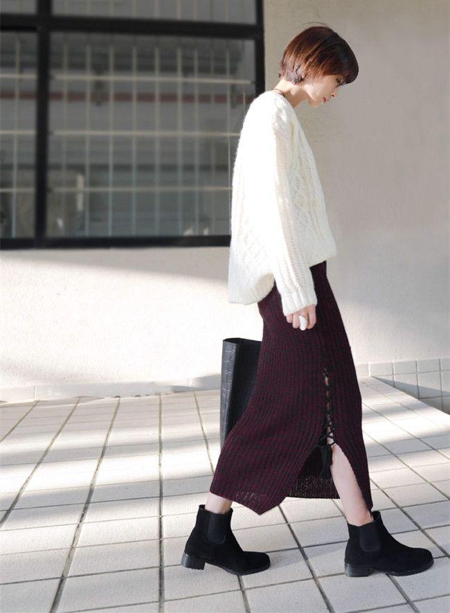 Японский стиль мори девочки толстый тёплый вязать юбка для офис дамы рабочий сексуальный шерстяная ткань карандаш юбки longuetteкупить в магазине Ethnic Clothing StoreнаAliExpress