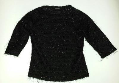 Licytuj na allegro.pl już od 7,80 zł - Czarny sweterek srebrna nitka 3/4 rękawka (5629579119). Allegro.pl - Radość zakupów i 100% bezpieczeństwa dla każdej transakcji!