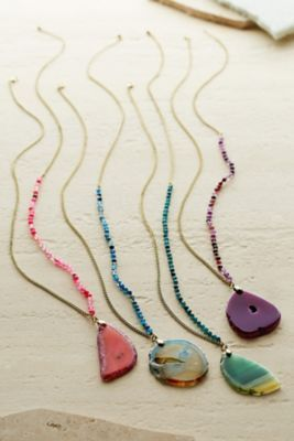 Pendant necklace inspiration - Adamina Agate Necklace from Soft Surroundings