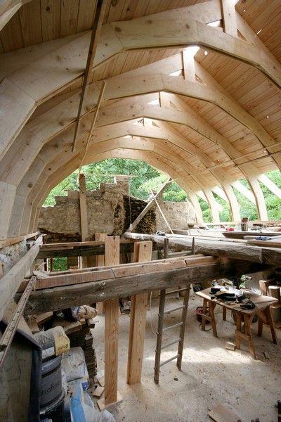 charpente timber frame pinterest. Black Bedroom Furniture Sets. Home Design Ideas