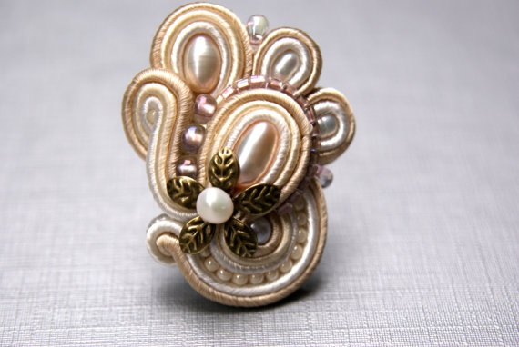 Soutache Ring by BeadsRainbow on Etsy, $50.00