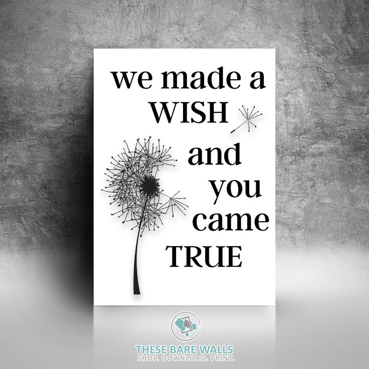 We Made A Wish And You Came True Printable Wall Art   Dream Print   We Made a…