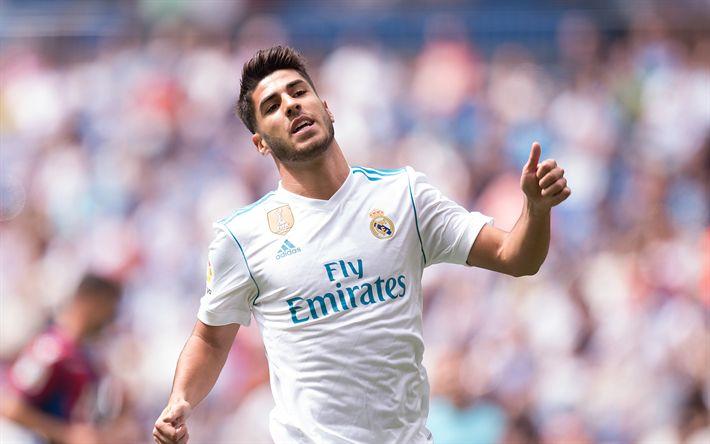 Download imagens Marco Asensio, Jogador de futebol espanhol, O Real Madrid, Espanha, retrato, La Liga, futebol