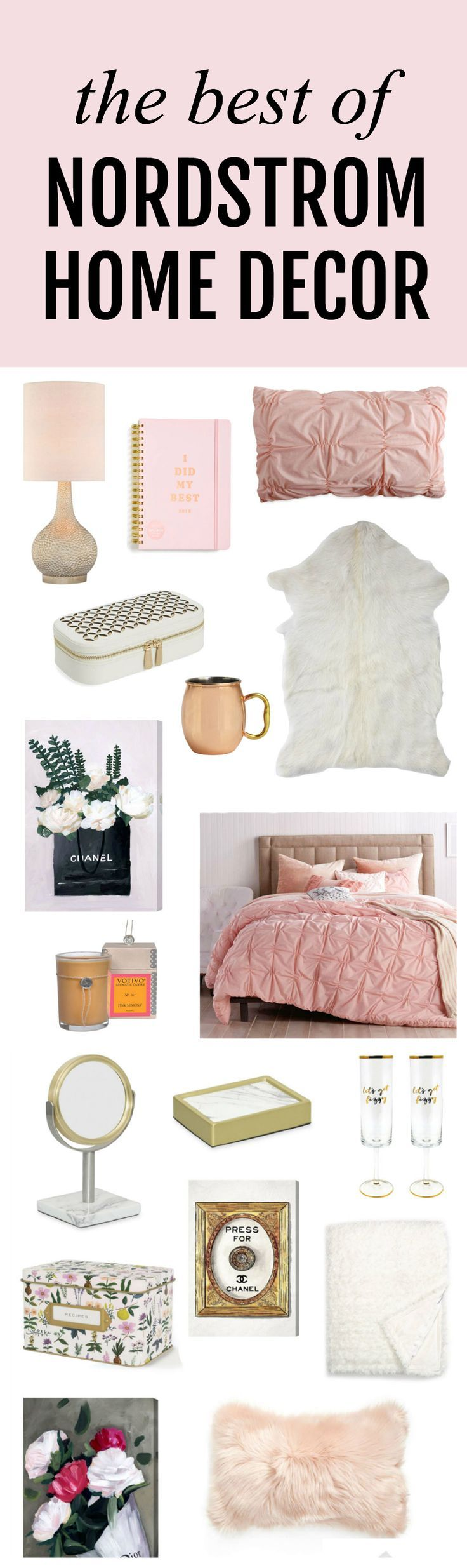 Everything I need to re-decorare my entire house!   Fashion, lifestyle and beauty blogger Michelle Kehoe of Mash Elle shares the best home decor deals from the Nordstrom Anniversary Sale 2017. Everything from bedding, furniture, artwork, pillows, mirrors, candles, diffusers, shower curtains, kitchenware and more are on sale!