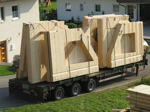 Massivholzmauer
