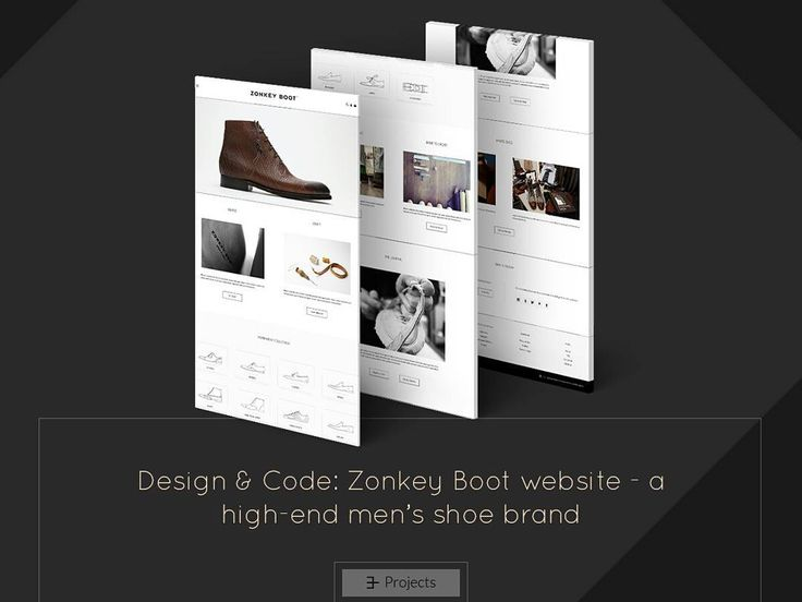 Website design & code for Zonkey Boot, a high-end men's shoe brand. #website #webdesign #code #interface #ui #ux #minimalist #ecommerce #wear #boots #shoes #leather #shop #eromagencyprojects