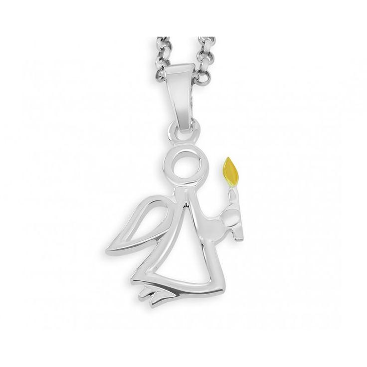 Wunderschöne Taufkette aus 925er Sterling Silber mit Engel Anhänger. Der Schutzengel symbolisiert, dass dieser einen ein Leben lang begleitet, behütet und über einen wacht. Mit diesem Schmuckstück verschenken Sie somit eine ganz besondere Erinnerung an den Tauftag.