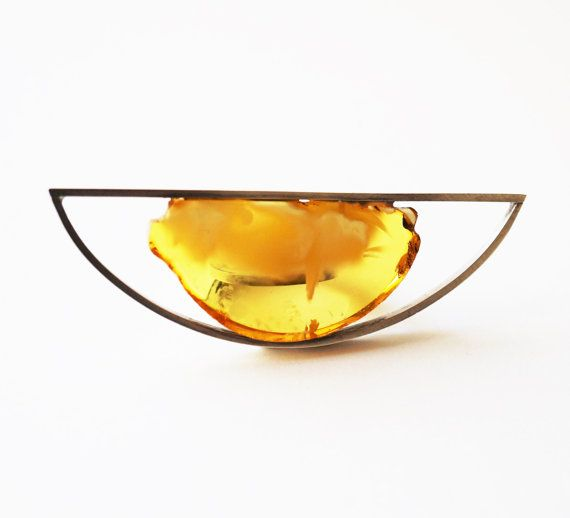 Luxury Baltic Amber Sterling Silver Ring no.688K