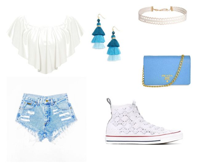 """""""Untitled #22"""" by xcon27x on Polyvore featuring WearAll, Converse, Humble Chic, NAKAMOL and Prada"""