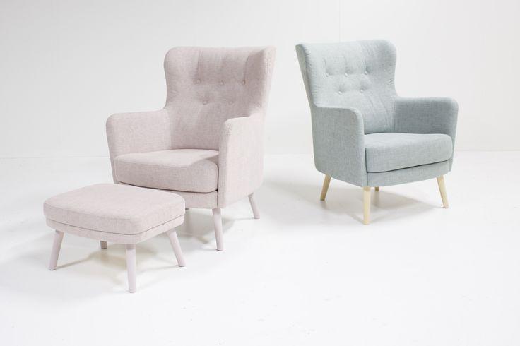 Pastel armchairs. Form armchair design by Jaakko Mäntylä