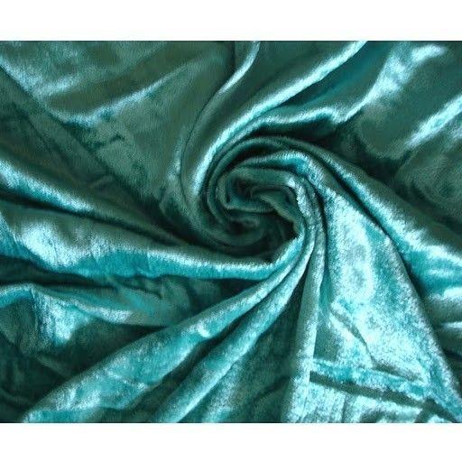Turquoise Velvet Fabric Yardage Fabric Curtain by FabricMart