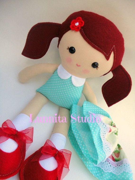 Handmade cloth doll... Eco-Friendly Doll... sweet ragdoll...I