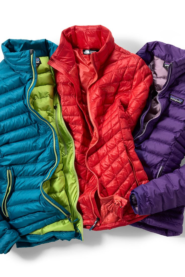 Pull on total warmth in an array of colors. Shop REI.com for the women's Patagonia Down Sweater and The North Face Thermoball jackets.