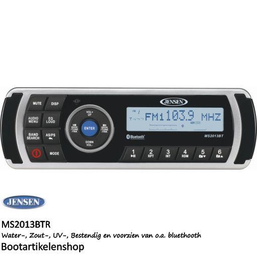 Jensen Marine MS2013BTR boot radio. USB/AUX/Bluetooth (mp3, mp4, wma)