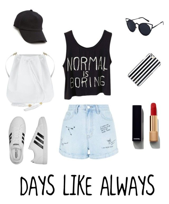 Untitled #1 by seventynineseconds on Polyvore featuring polyvore, fashion, style, New Look, adidas, rag & bone, MICHAEL Michael Kors, Chanel and clothing