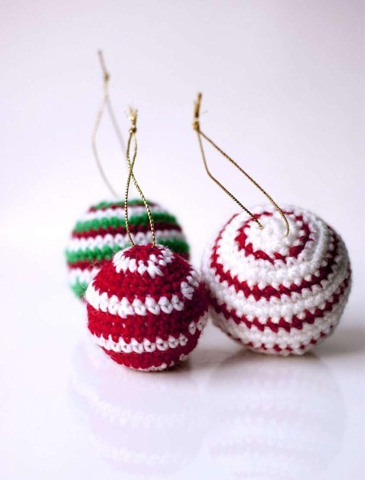 Palline di Natale all'uncinetto fai da te