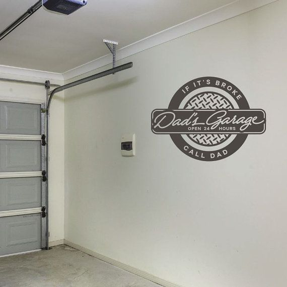 Dad's Garage Wall Decal - Garage Decal - Grandpa Wall Decal - Wall Quotes - Wall Decor - Vinyl Lettering - Love Wall Decal - Man Cave CAN YOUR DAD FIX EVERYTHING?!?!?  He needs this!