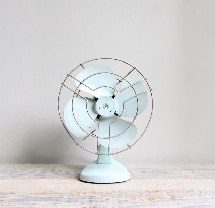 Vintage Industrial Electric Table Fan