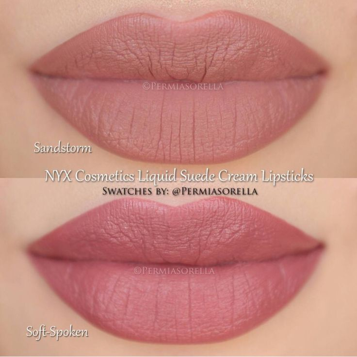NYX Liquid Suede : one of these lipstick colors (sandstorm or soft spoken(