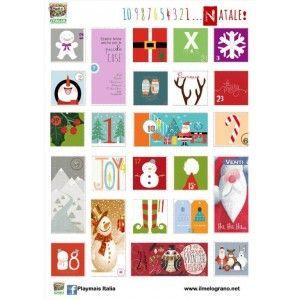 Free Printable Advent Calendar  http://www.ilmelograno.net/it/playmais-italia/341-calendario-dell-avvento.html
