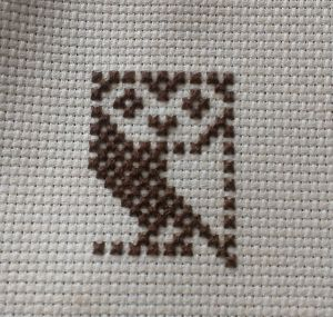 BBC micro cross stitch owl