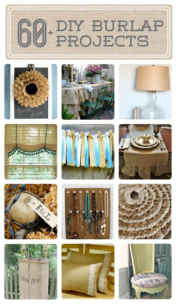 51 best burlap creations images on pinterest hessian for Burlap fabric projects
