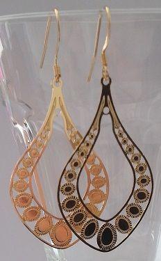 Gouden filigraan oorbellen