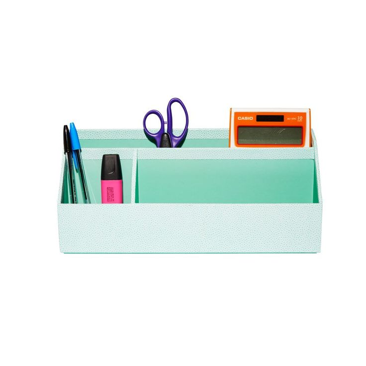 Martha Stewart Desktop Organiser Aqua   Officeworks