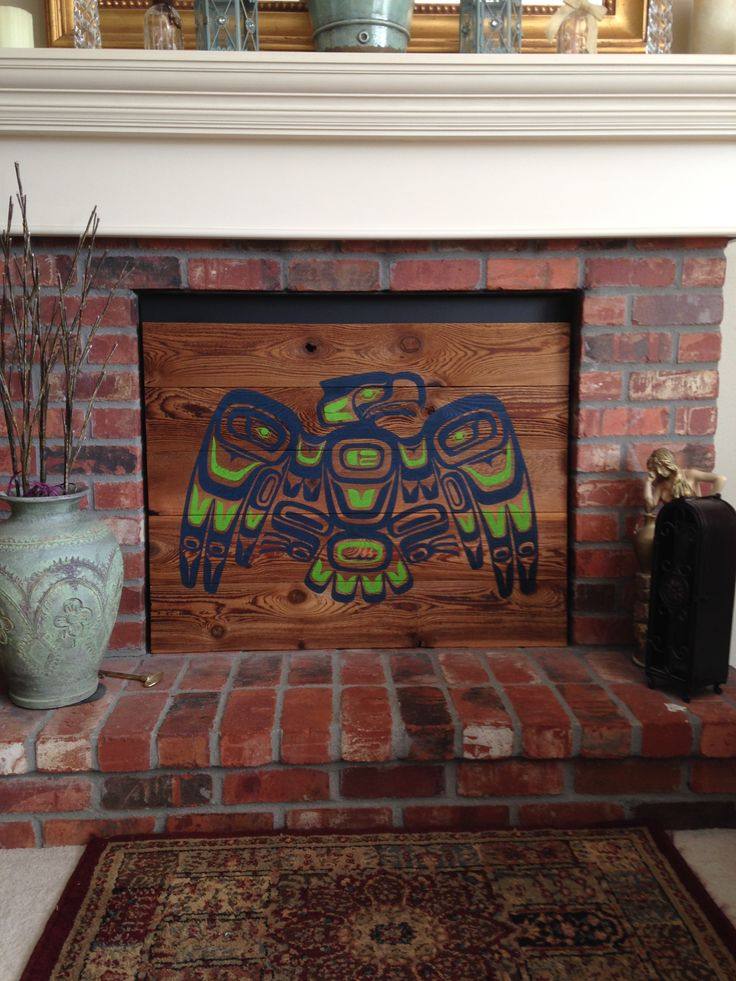 Seattle Seahawks logo design incorporated in NW native