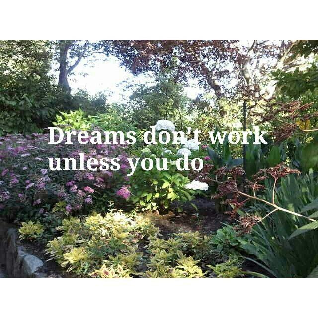 Dreams don't work unless you do. - John Maxwell #quote #dreams #entrepreneurship