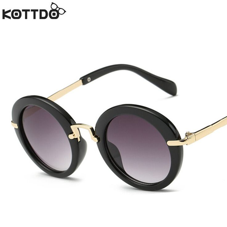 KOTTDO Fashion Round Cute Brand Designer Child Sunglasses Anti-uv Baby Vintage Glasses Girl Cool Eyewear Boys Kids Oculos Oh just take a look at this! #shop #beauty #Woman's fashion #Products #Classes