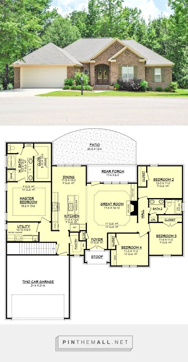Summerbrook Country French House Plan House Plan Zone 1875sf Almost Perfect Created Vi French House Plans French Country House Plans French Country House