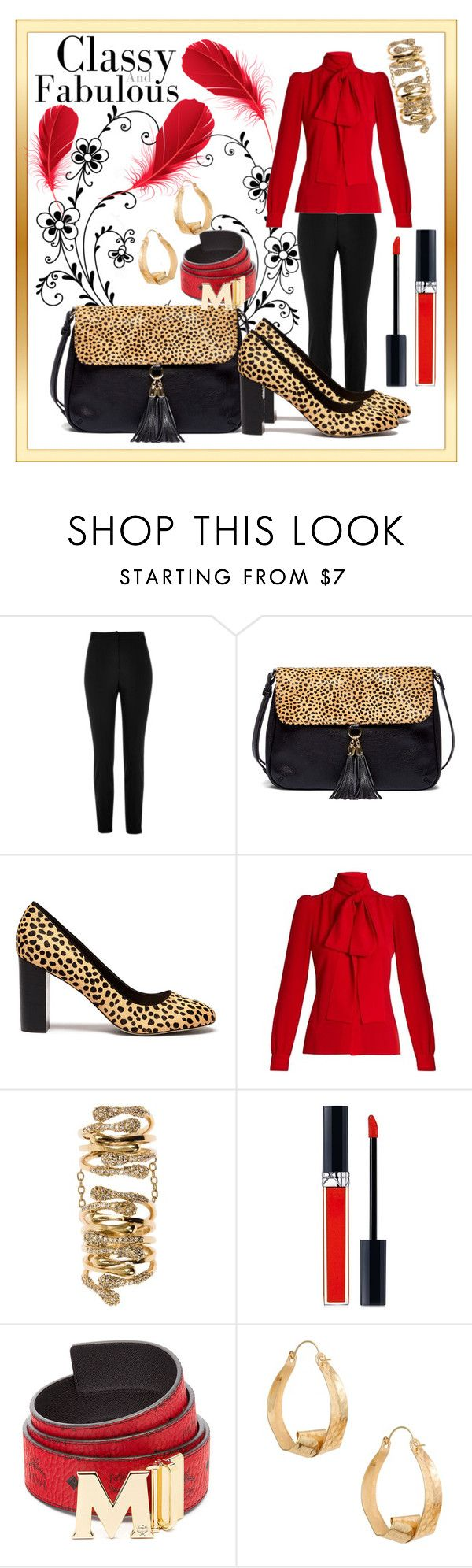 """""""Classy"""" by summer-marin ❤ liked on Polyvore featuring River Island, Sole Society, Sonia Rykiel, Joanna Laura Constantine, Christian Dior and MCM"""