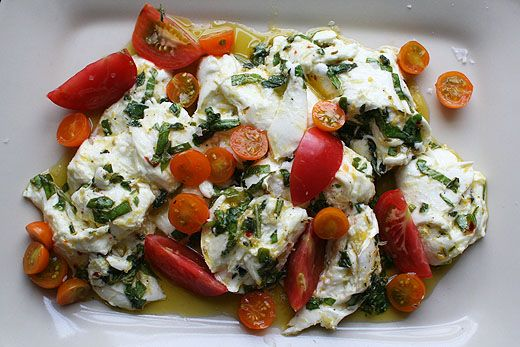 Marinated Mozzarella (adapted from Plenty by Yotam Ottolenghi)
