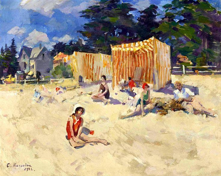 "'At the beach"", Konstantin Korovin"