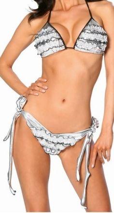 Sexy Halter White Leopard Bikini Set (LR9124-2)  $25.59