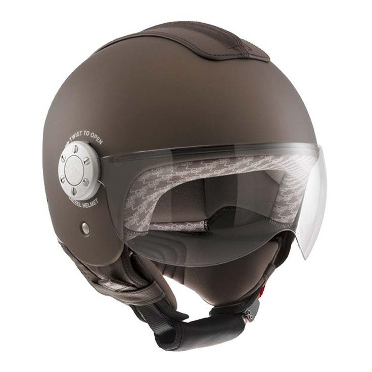 AGV Diesel Mowie Helmet - Matt Bronze | Open Face Motorcycle Helmets | FREE UK delivery - The Cafe Racer