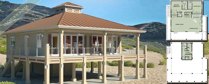 small beach house designs | Beach House Plans by Beach Cat Homes