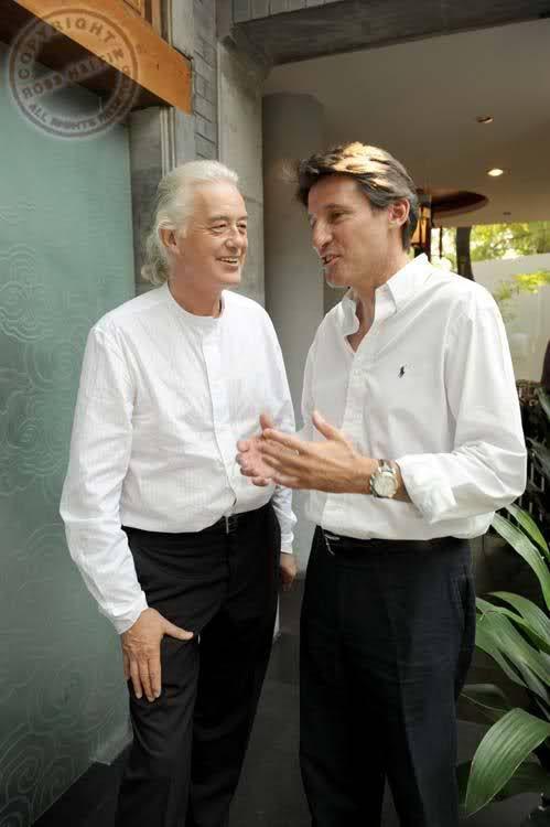 Jimmy Page in Beijing 2008, Photo: Ross Halfin