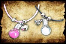 Ketting Tim flesje+ sleutel, steampunk koperen plaatjes voor deco tassen ed