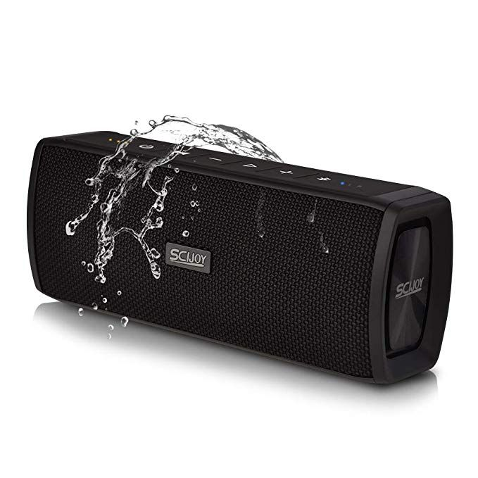 JONTER IPX5 Waterproof Bluetooth Speaker with Rich Bass Loud Stereo Sound Black Portable Wireless Speaker for Home//Outdoor//Beach//Travel