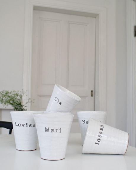 Name cups - Muggar m.m. - personligt porslin
