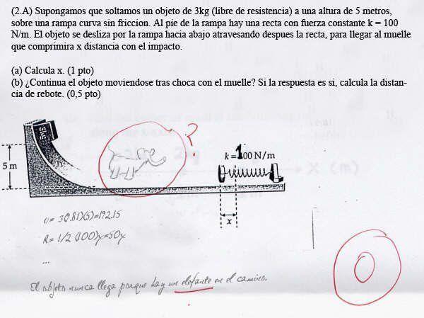 Las mejores respuestas en examenes universitarios.