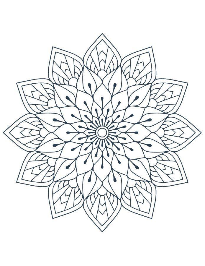 Coloriage mandala artherapie à imprimer gratuit   Mandala coloring pages, Mandala stencils ...