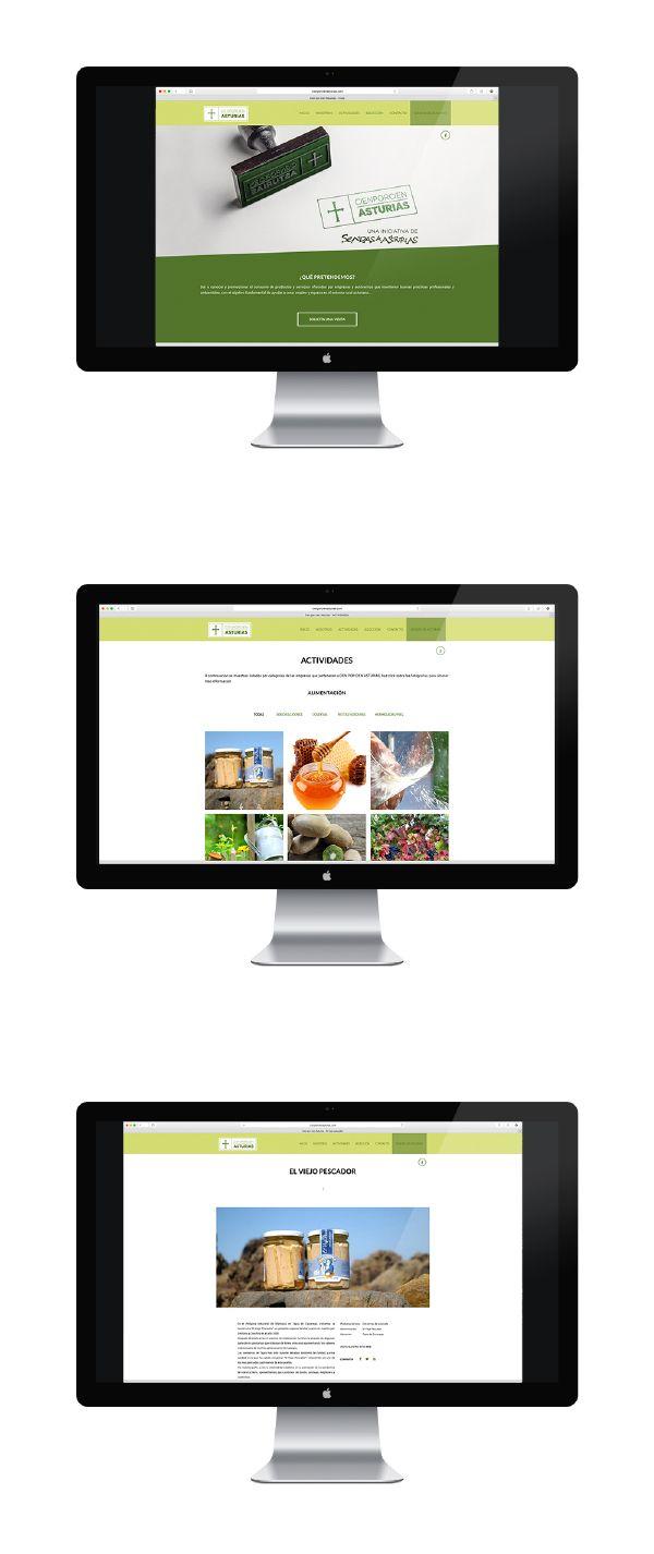 Sitio web de Cien por Cien Asturias, una iniciativa de Sendas de Asturias