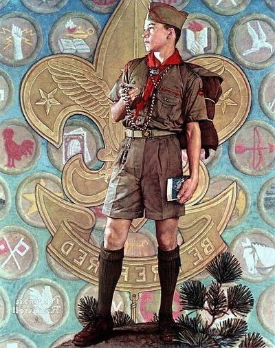BSA commermoration, Norman Rockwell - now taken over by progressive socialists