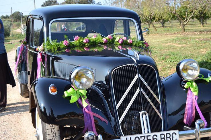 coche, boda, decoración