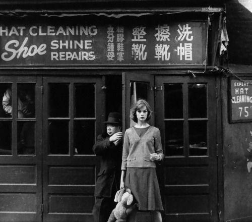 "snowce: ""William Klein, Jean Shrimpton, NYC, 1962 """