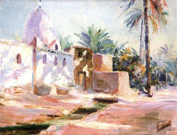 Peinture Algérie - La villa blanche par Edouard Herzig