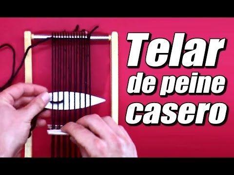 M Telar de peine casero, cómo se hace - YouTube